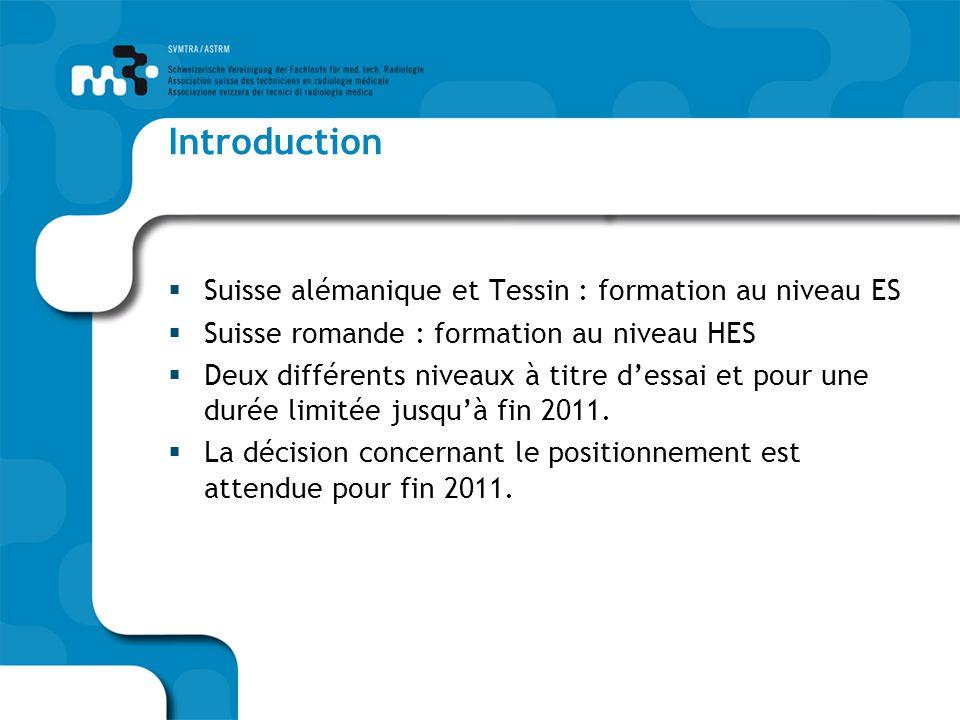 Notre objectif – comment latteindre Objectif : Positionnement unique de la formation au niveau Haute école spécialisée (HES) dans toute la Suisse.
