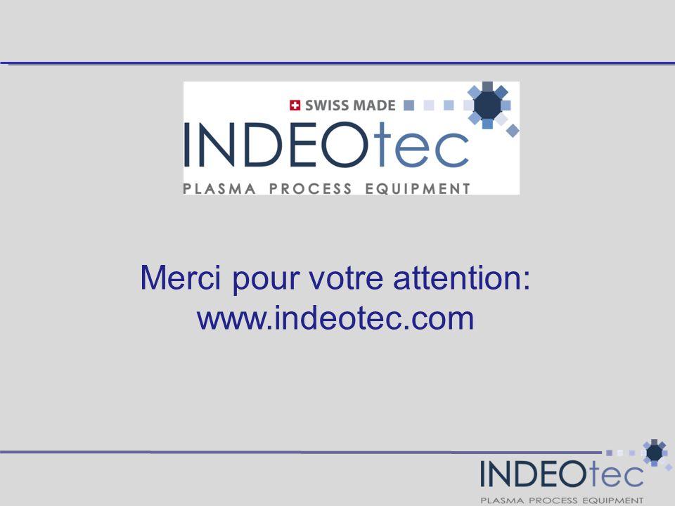 Merci pour votre attention: www.indeotec.com