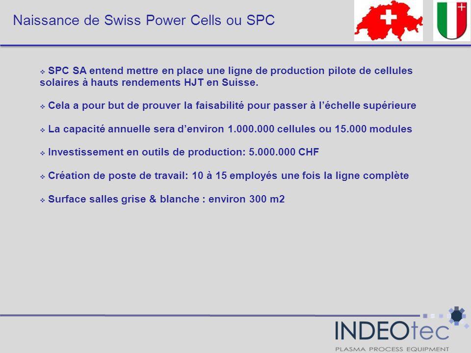 Naissance de Swiss Power Cells ou SPC SPC SA entend mettre en place une ligne de production pilote de cellules solaires à hauts rendements HJT en Suis