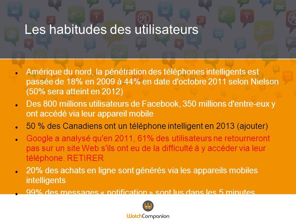 Le commerçant daujourdhui… Doit voir la technologie mobile comme un outil en soi et non seulement une extension au site Web.