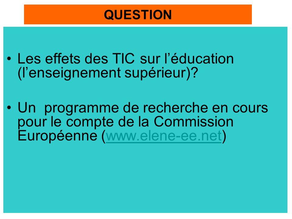 Les effets des TIC sur léducation (lenseignement supérieur).