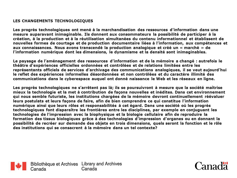 LA MODERNISATION La modernisation de Bibliothèque et Archives Canada (BAC), qui se fonde sur les quatre principes directeurs que sont limportance, la suffisance, la viabilité et la société, constitue loccasion idéale dexaminer la pertinence et lefficacité de notre institution dans la société, en cette ère numérique et au delà du XXIe siècle.