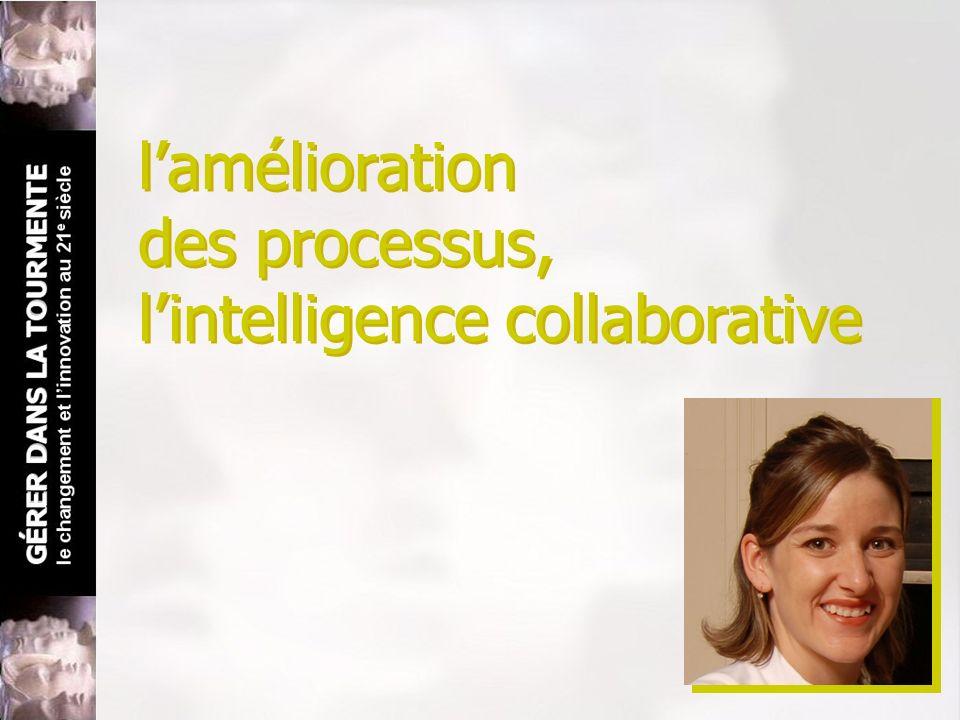 lamélioration des processus, lintelligence collaborative