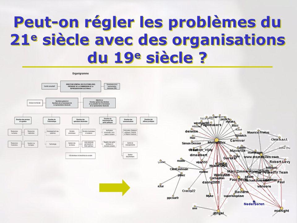 Peut-on régler les problèmes du 21 e siècle avec des organisations du 19 e siècle ?
