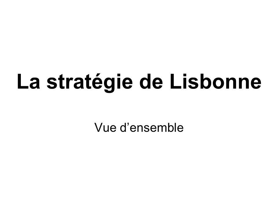 La stratégie de Lisbonne Vue densemble