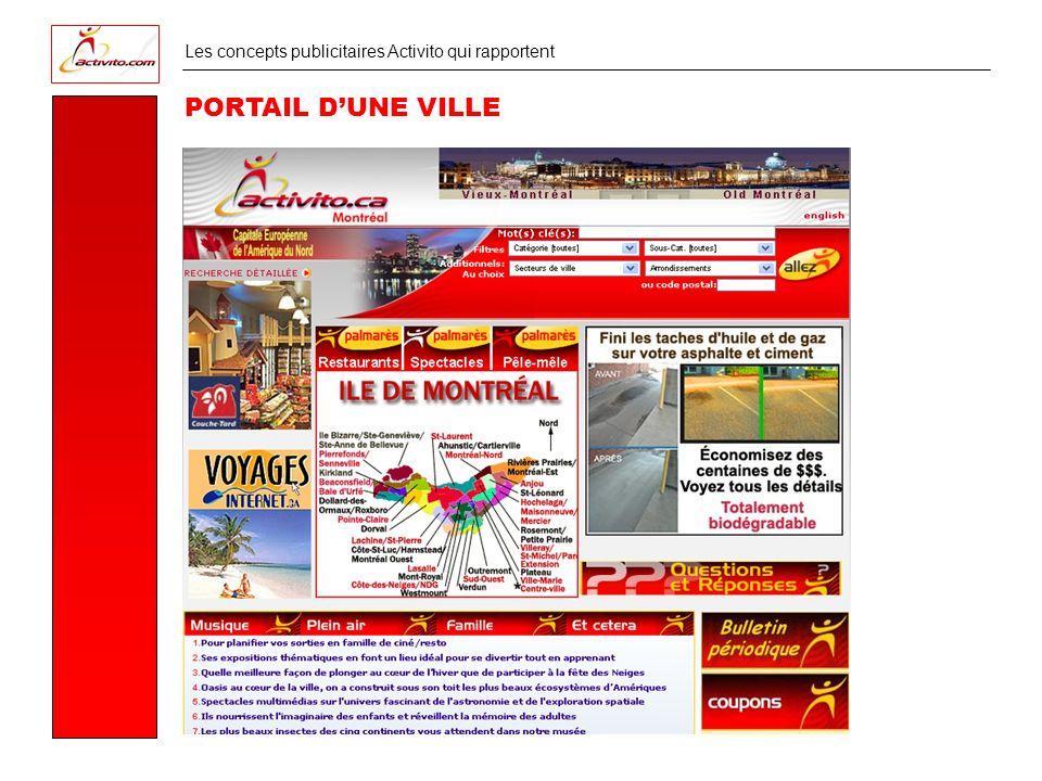 Les concepts publicitaires Activito qui rapportent PORTAIL DUNE VILLE