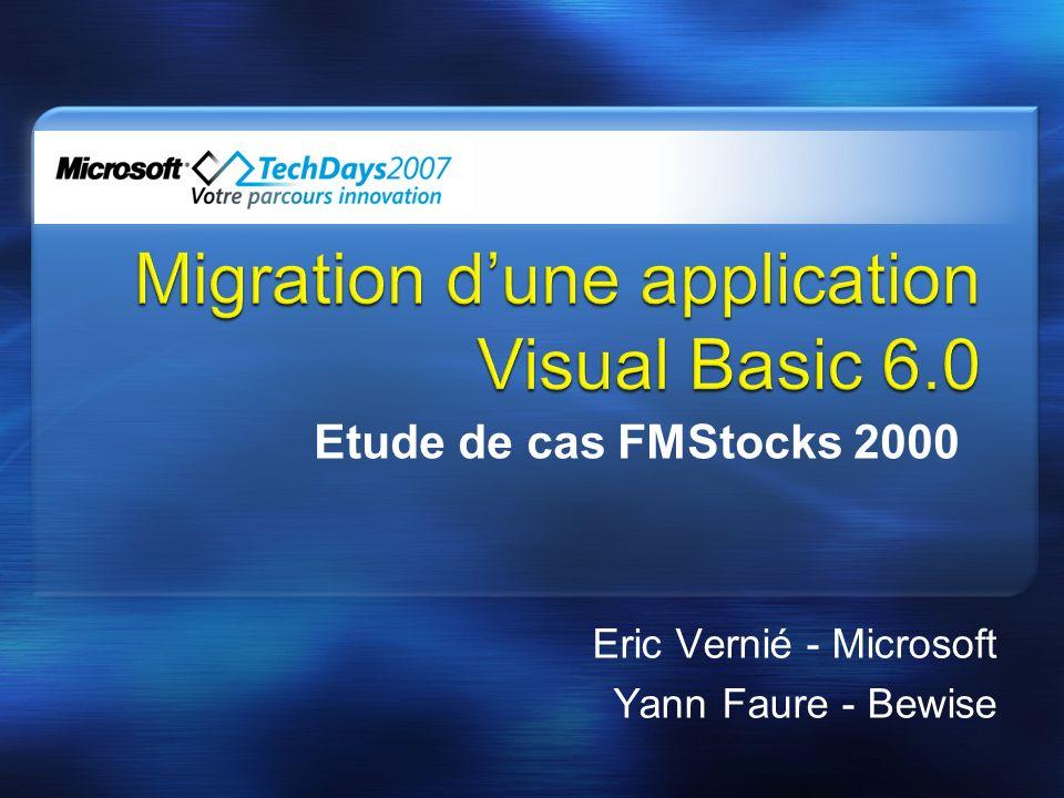 Eric Vernié - Microsoft Yann Faure - Bewise Etude de cas FMStocks 2000