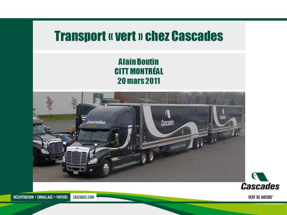 Transport « vert » chez Cascades Alain Boutin CITT MONTRÉAL 20 mars 2011