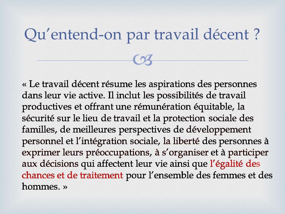 Économie informelle Droits non protégés, non respectés ; Travail des enfants, travail forcé, exploitation ; Inégalité et exclusion.