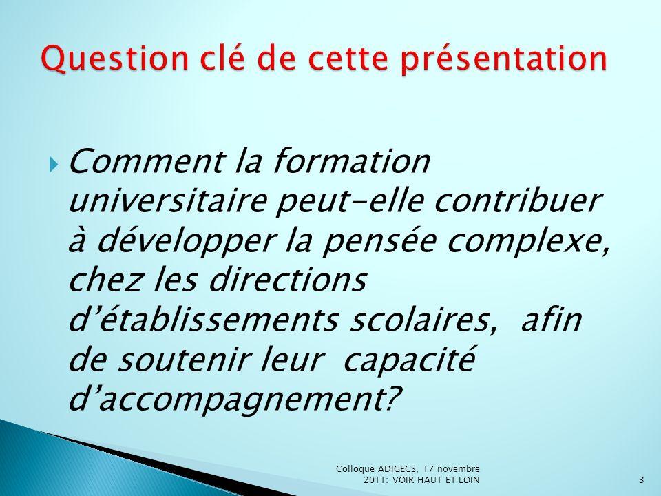 1.La complexité de la gestion : le processus daccompagnement professionnel des enseignants 2.
