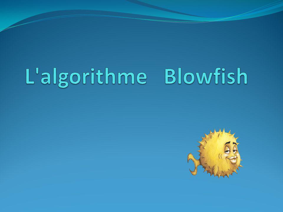 Blowfish Comme alternative rapide et libre aux algorithmes existants de chiffrage.