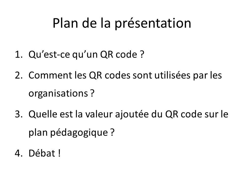 Comment aborder les enjeux du QR code avec les élèves .