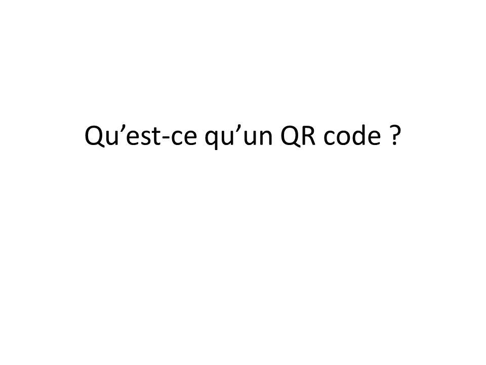 Découvrir le QR code en images