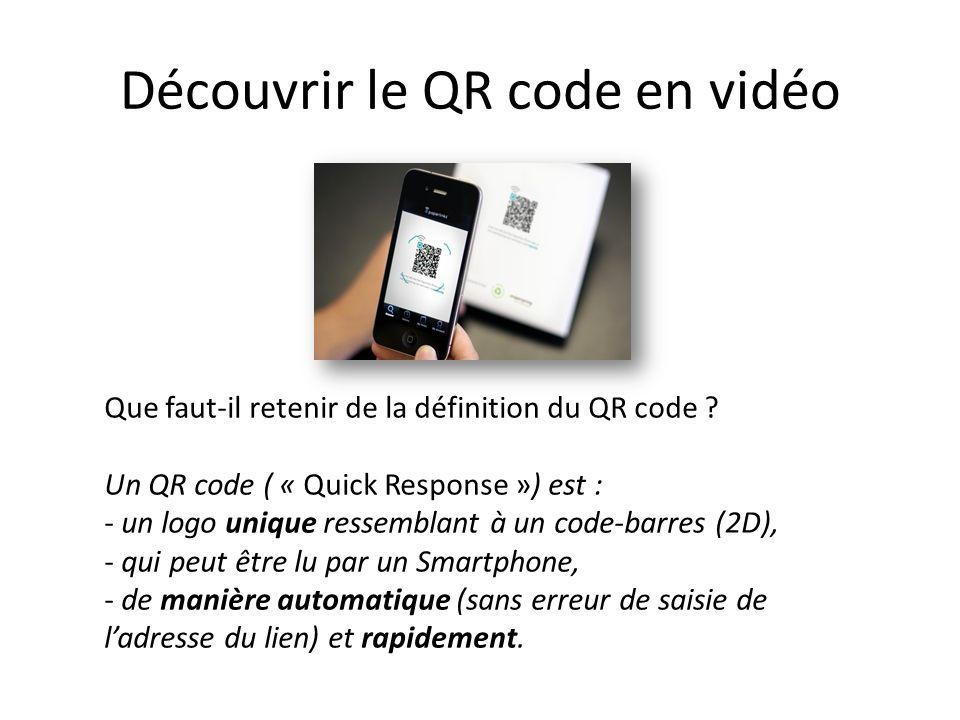 Le QR code nécessite un lecteur !