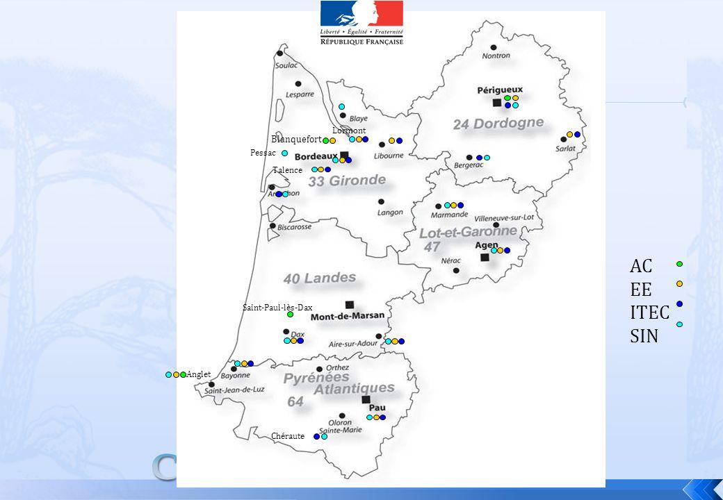 AC EE ITEC SIN Blanquefort Anglet Talence Lormont Saint-Paul-lès-Dax Chéraute Pessac
