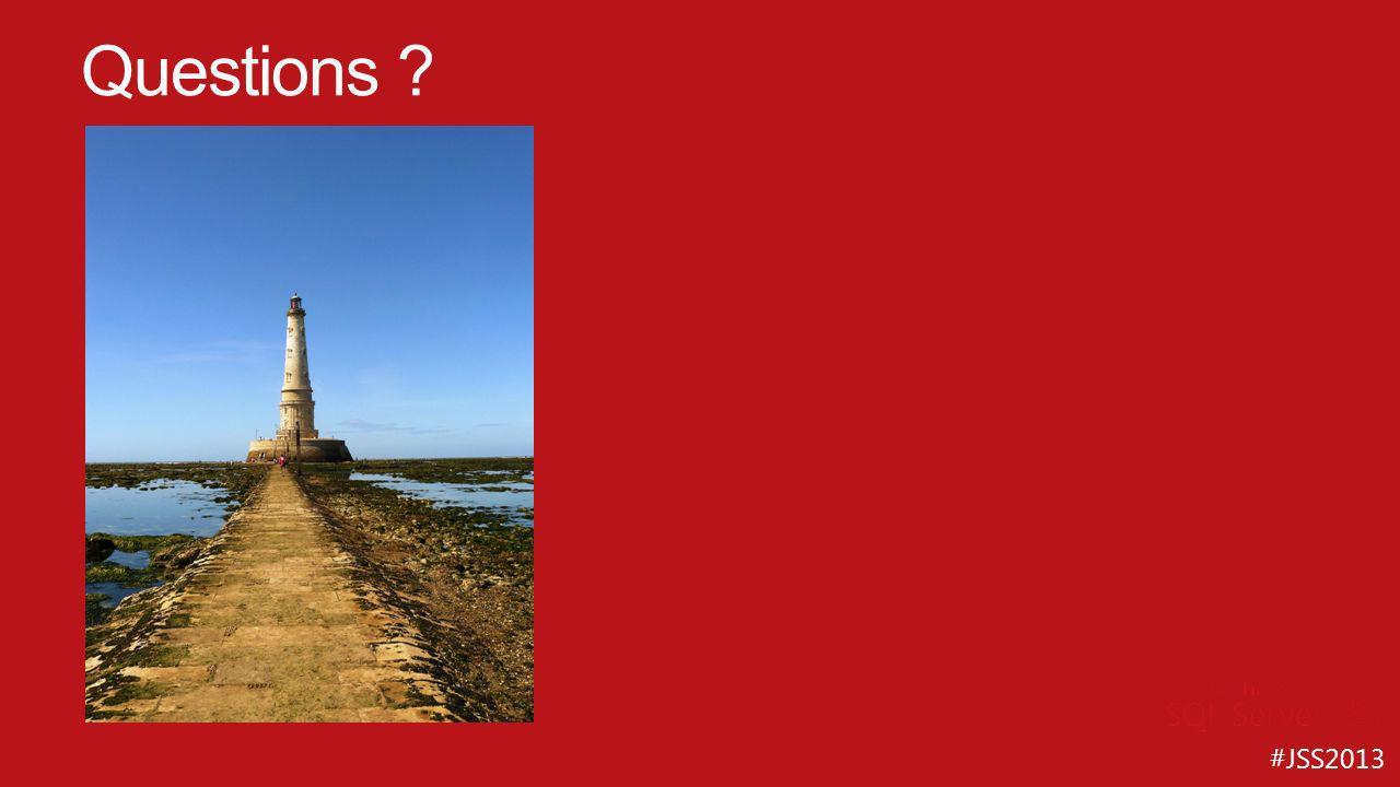 #JSS2013 Questions ?