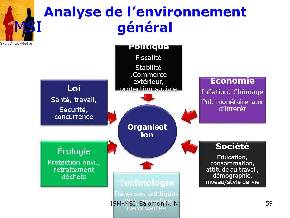 Analyse de lenvironnement général MSI GPE EDHEC-Abidjan 59ISM-MSI Salomon N. N.