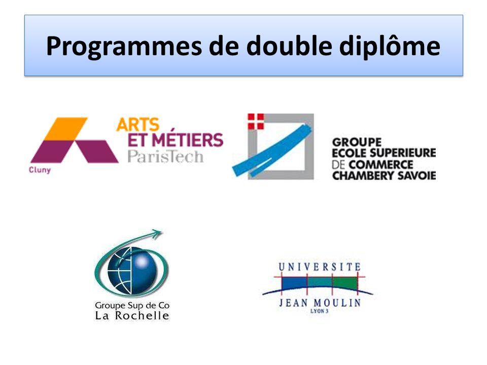 Programmes de double diplôme