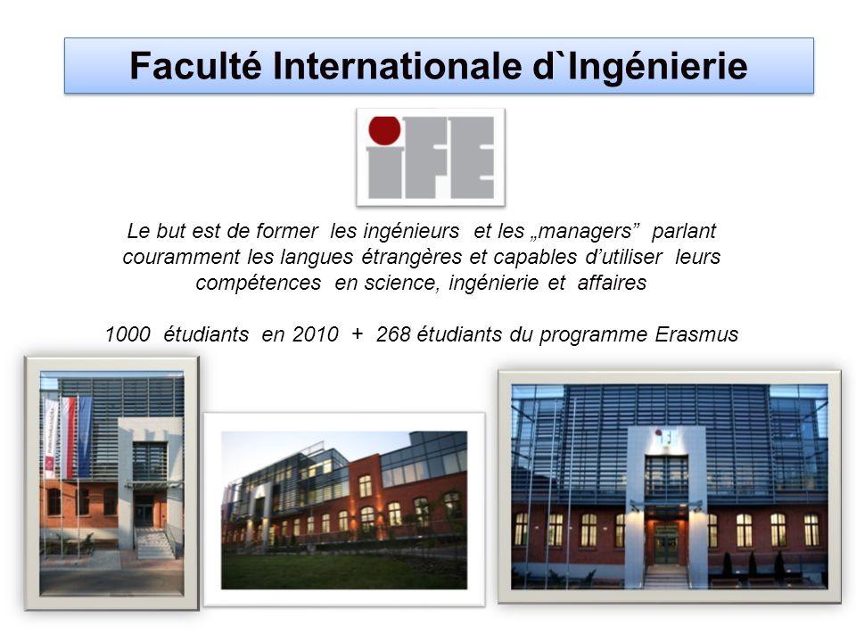 Faculté Internationale d`Ingénierie Le but est de former les ingénieurs et les managers parlant couramment les langues étrangères et capables dutilise