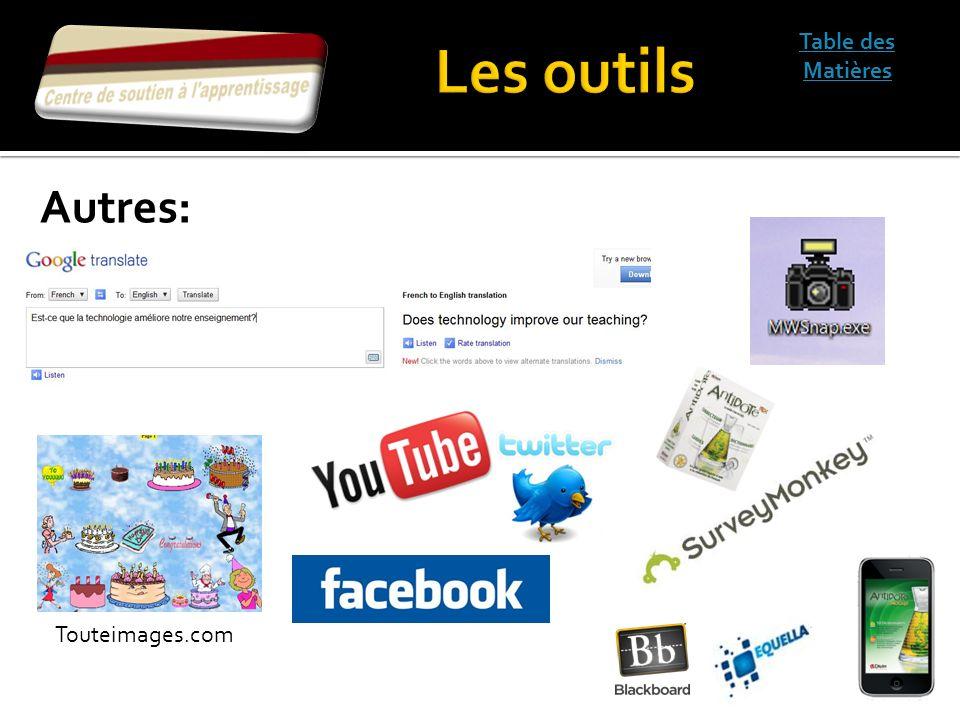 Table des Matières Autres: Touteimages.com