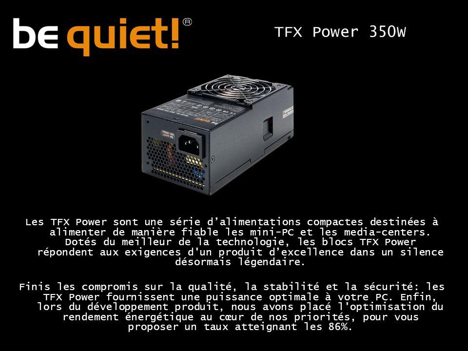 Les TFX Power sont une série dalimentations compactes destinées à alimenter de manière fiable les mini-PC et les media-centers.