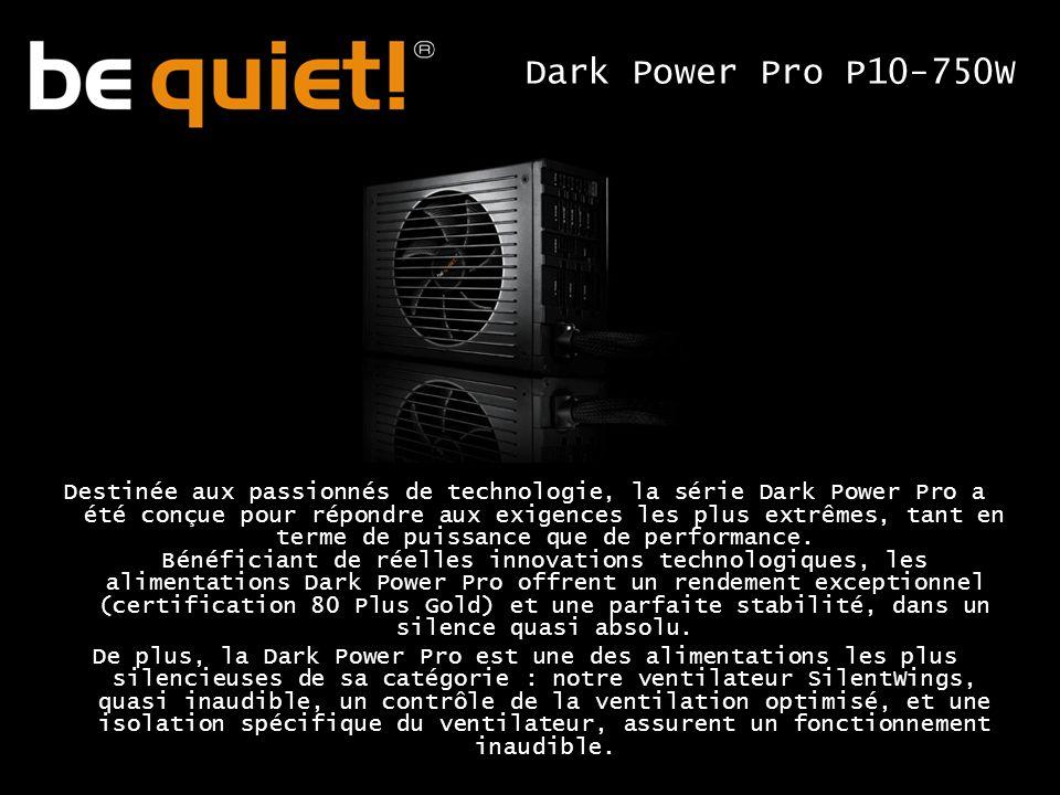 Destinée aux passionnés de technologie, la série Dark Power Pro a été conçue pour répondre aux exigences les plus extrêmes, tant en terme de puissance que de performance.