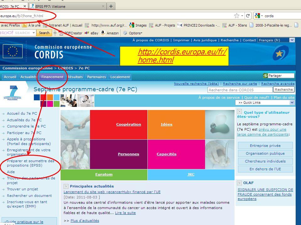 http://cordis.europa.eu/fr/ home.html