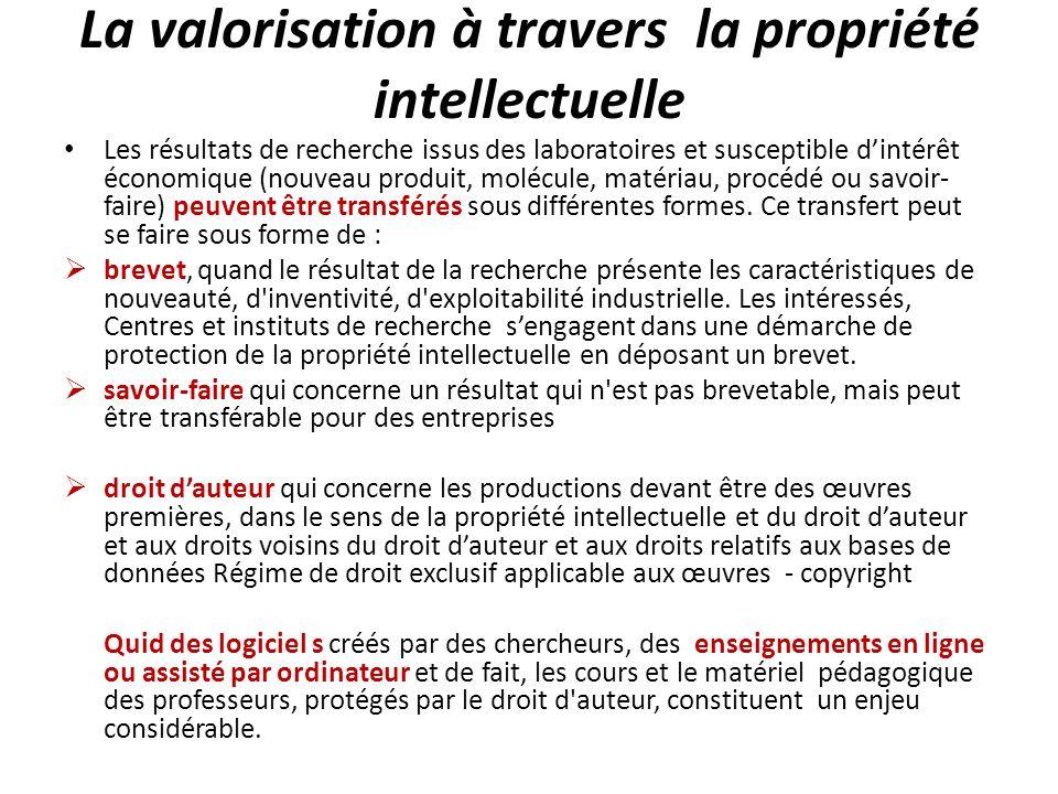 Les perspectives pour la Recherche malgache La PI : un régime juridique qui vise à reconnaître le mérite d une réalisation en accordant à son / (ses) auteur(s) le droit exclusif de diffusion et d exploitation de celle-ci.