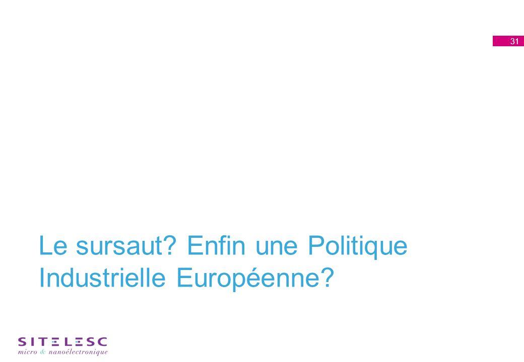 Le sursaut Enfin une Politique Industrielle Européenne 31