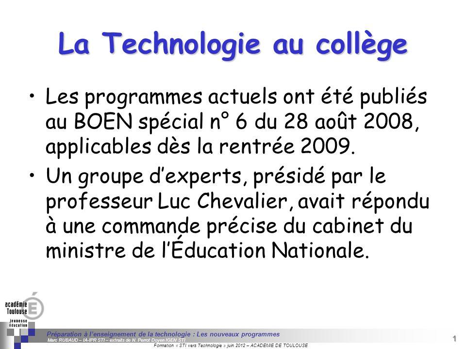 1 Séminaire « Définition de Produits » : méthodologie de définition dune pièce GREC INITIALES Formation « STI vers Technologie » juin 2012 – ACADEMIE
