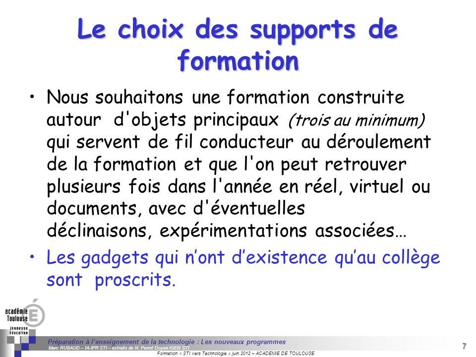 7 Séminaire « Définition de Produits » : méthodologie de définition dune pièce GREC INITIALES Formation « STI vers Technologie » juin 2012 – ACADEMIE