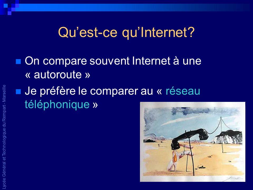 Lycée Général et Technologique du Rempart - Marseille Quest-ce quInternet.