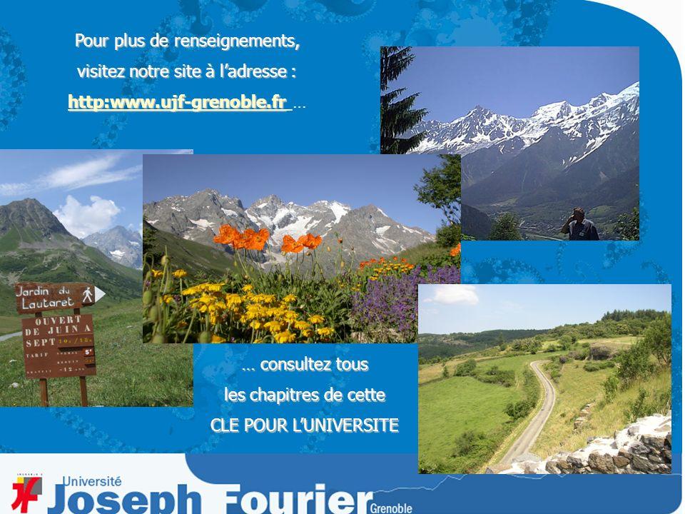 Pour plus de renseignements, visitez notre site à ladresse : http:www.ujf-grenoble.fr http:www.ujf-grenoble.fr http:www.ujf-grenoble.fr … … consultez