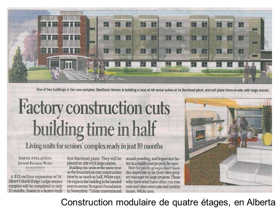 Construction modulaire de quatre étages, en Alberta