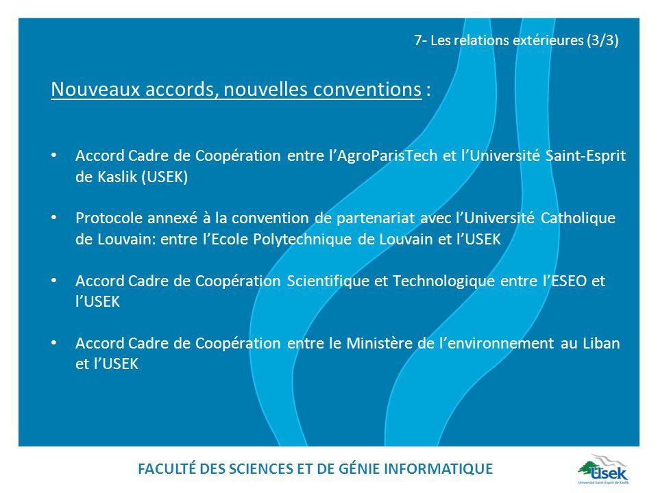 Accord Cadre de Coopération entre lAgroParisTech et lUniversité Saint-Esprit de Kaslik (USEK) Protocole annexé à la convention de partenariat avec lUn