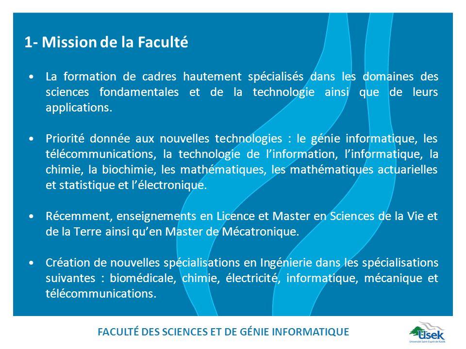La formation de cadres hautement spécialisés dans les domaines des sciences fondamentales et de la technologie ainsi que de leurs applications.