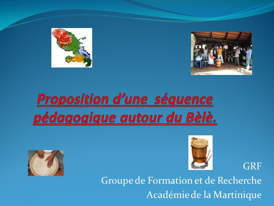 GRF Groupe de Formation et de Recherche Académie de la Martinique