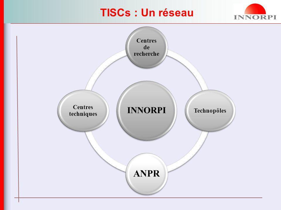Centres de recherche Technopôles ANPR Centres techniques TISCs : Un réseau