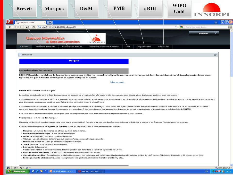 Les outils du TISC Les bases de données de lINNORPI ; Les principales bases de données de brevets étrangères notamment :