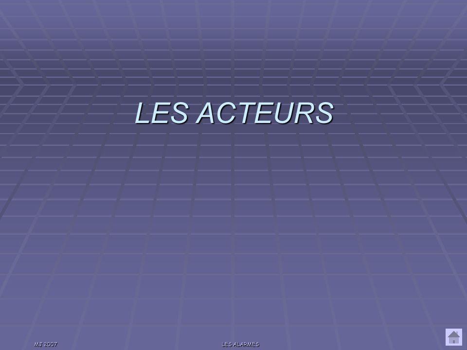 MJ 2007LES ALARMES Aujourdhui Il y a, en France 450 000 cambriolage/an 250 000 habitations visitées Cest à dire 1 vol toutes les minutes