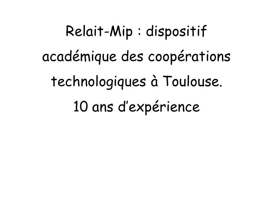 Relait-Mip : dispositif académique des coopérations technologiques à Toulouse. 10 ans dexpérience