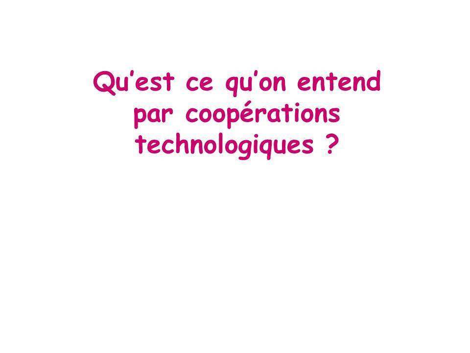 Quest ce quon entend par coopérations technologiques ?