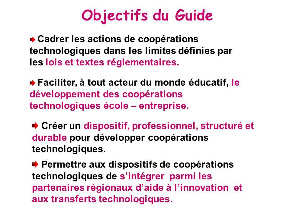 Cadrer les actions de coopérations technologiques dans les limites définies par les lois et textes réglementaires.