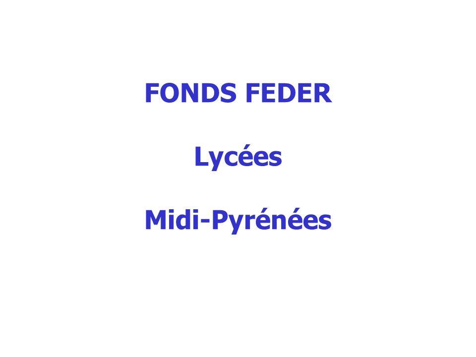 FONDS FEDER Lycées Midi-Pyrénées