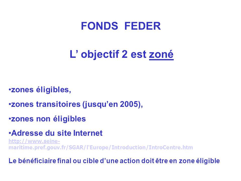 L objectif 2 est zoné zones éligibles, zones transitoires (jusquen 2005), zones non éligibles Adresse du site Internet http://www.seine- http://www.se
