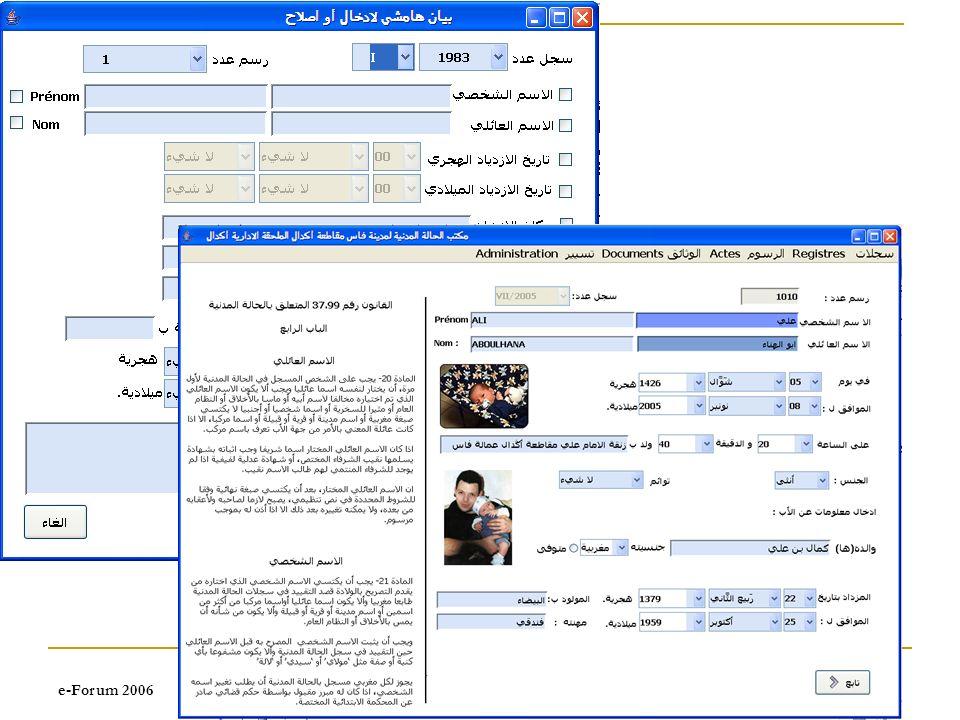e-Forum 2006Projet Fès-eGov 22/48