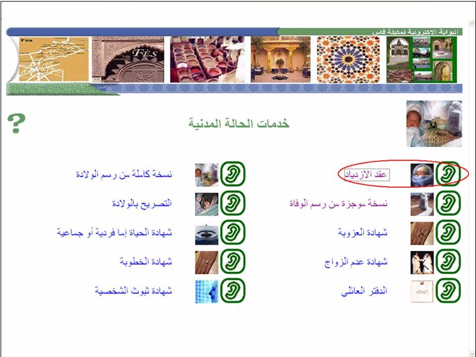 e-Forum 2006Projet Fès-eGov 34/48 Borne interactive La borne interactive, déjà déployée au Bureau dÉtat Civil Fès Agdal depuis Novembre 2005, automati