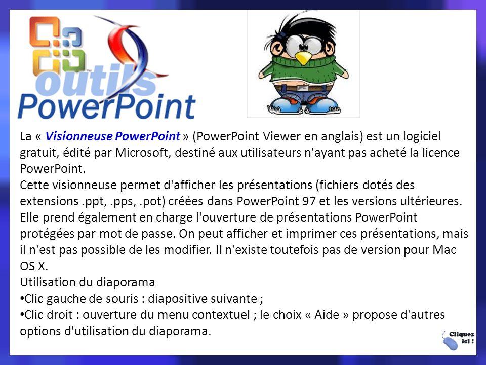 Vocabulaire lié à powerpoint - Diaporama : mode d affichage pour diffuser une présentation sur un écran.