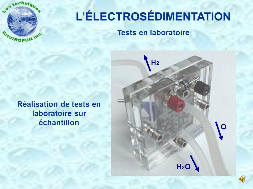 LÉLECTROSÉDIMENTATION Principe de fonctionnement Séparateur de flocs Eau Anode Cathode Électrodes de diffusion Boues Effluents