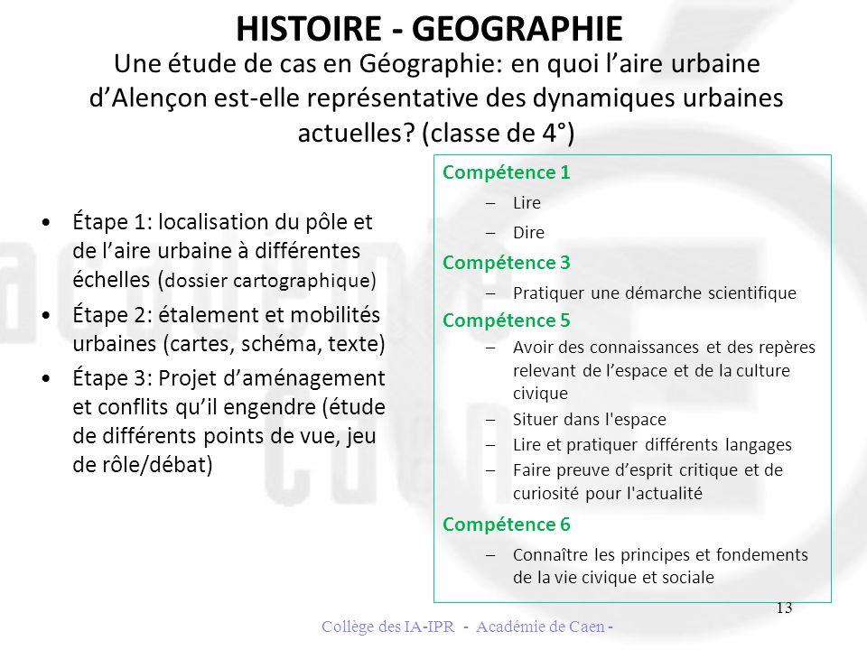 Une étude de cas en Géographie: en quoi laire urbaine dAlençon est-elle représentative des dynamiques urbaines actuelles? (classe de 4°) Étape 1: loca